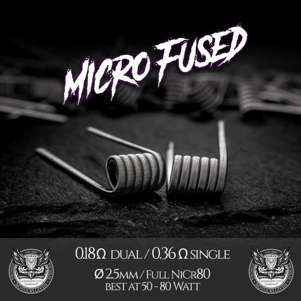 Micro Fine Fused Coils by Aenigma Clouds